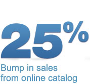 25% bump in sales from online catalog